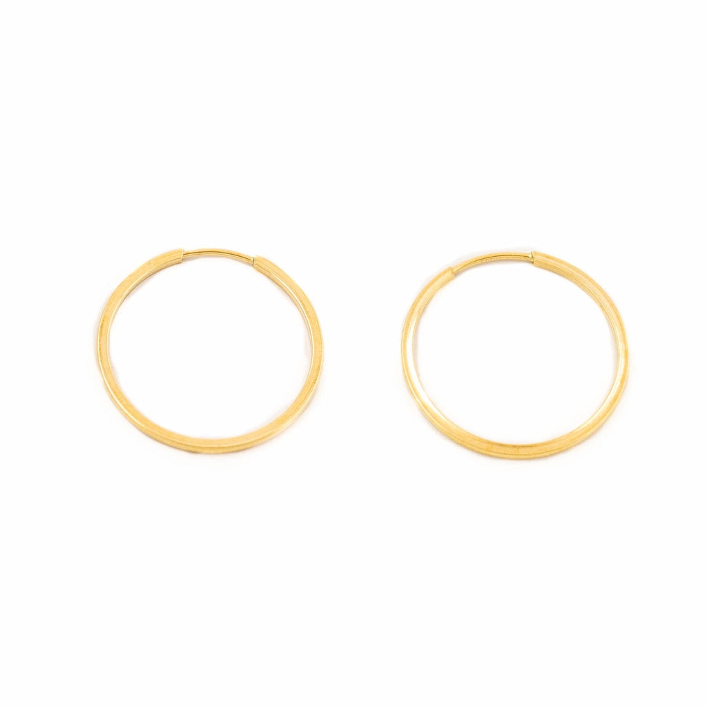 10kt Gold Sleeper Hoops - Kingdom Jewelry