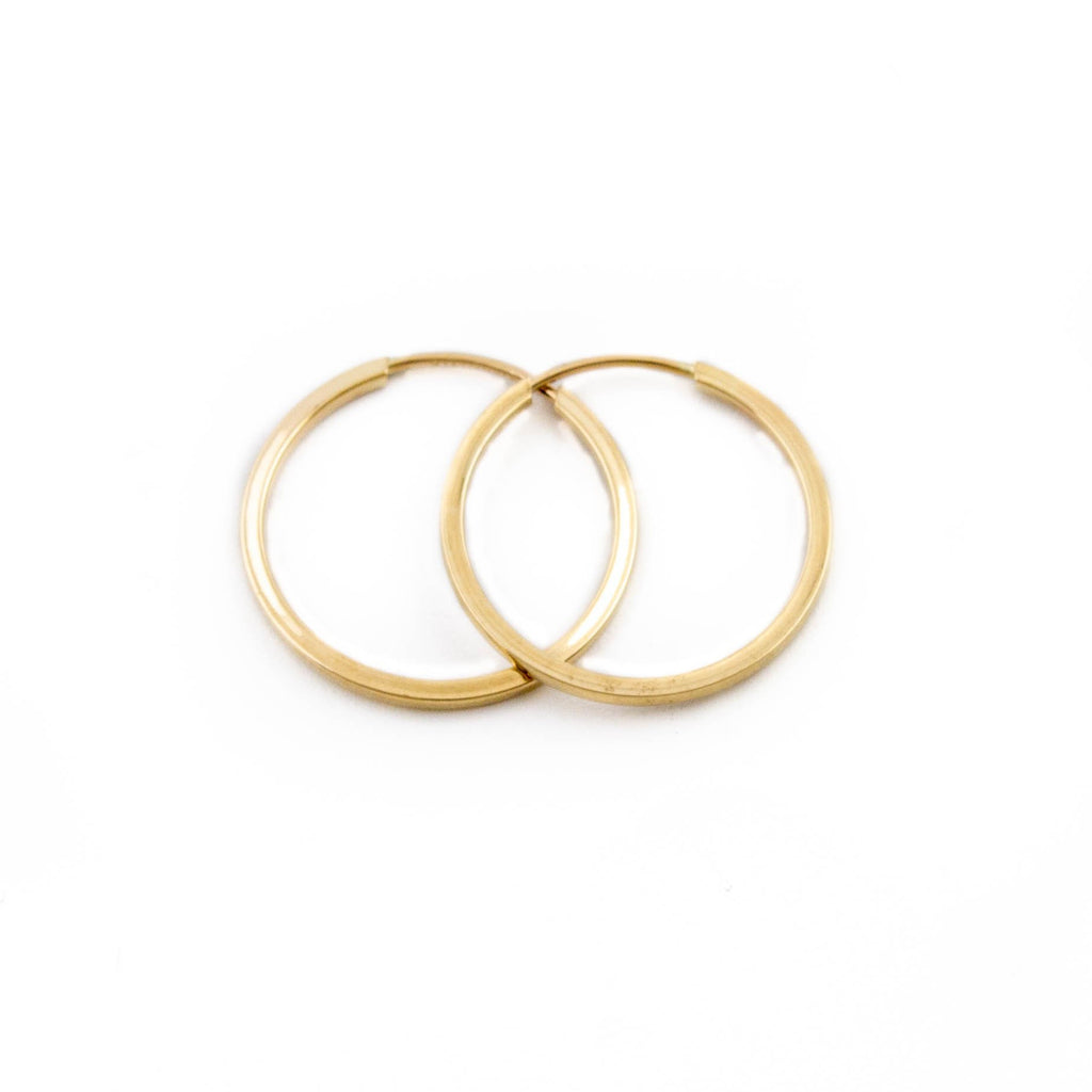 10kt Pipe Hoop Earrings - Kingdom Jewelry