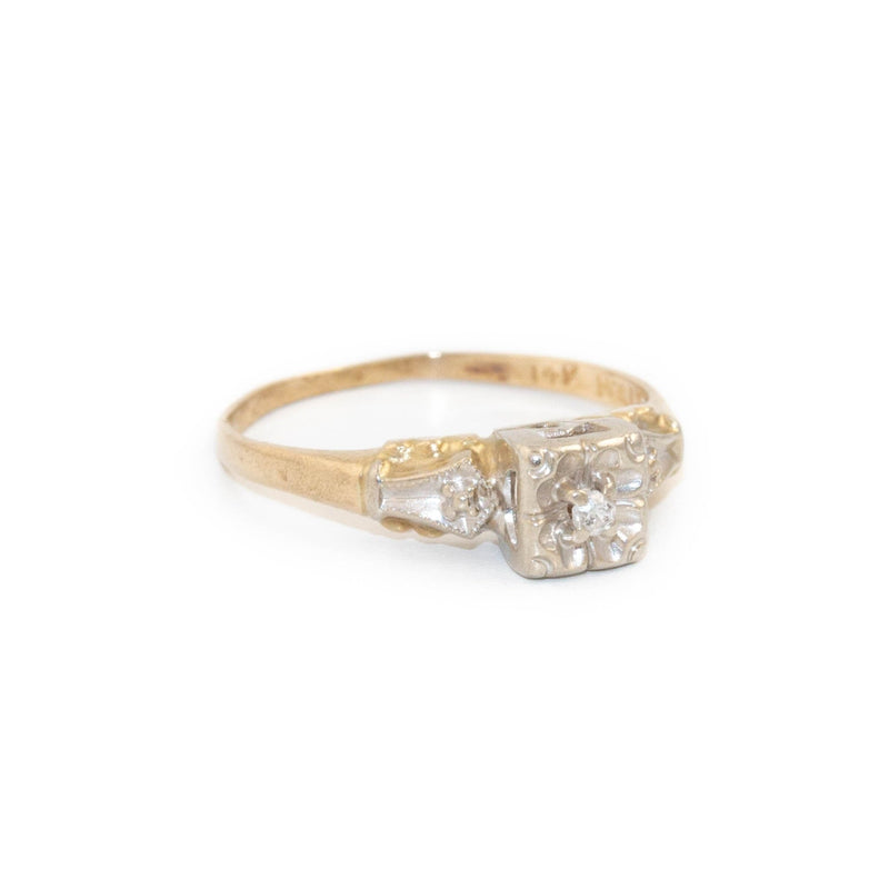 14kt Vintage Diamond Ring - Kingdom Jewelry