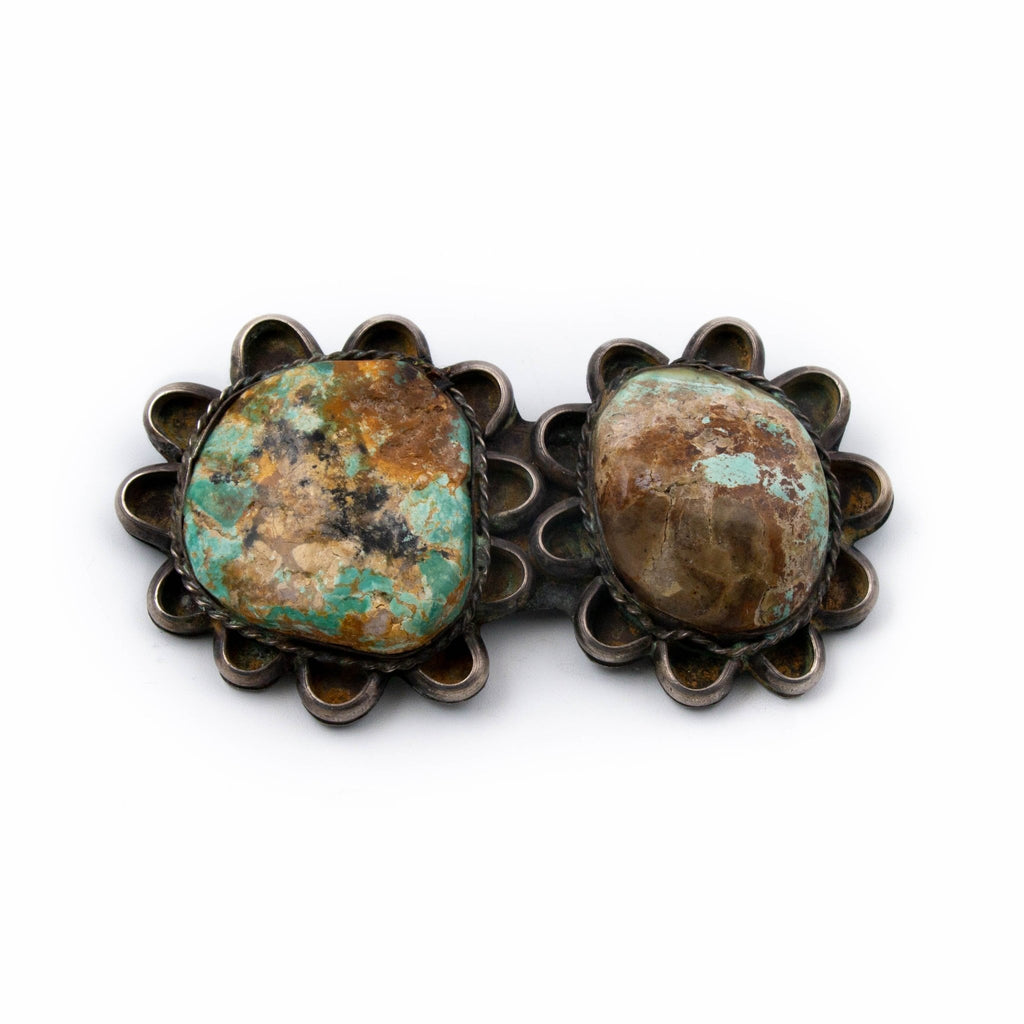 1940's McGinnis Turquoise Brooch - Kingdom Jewelry