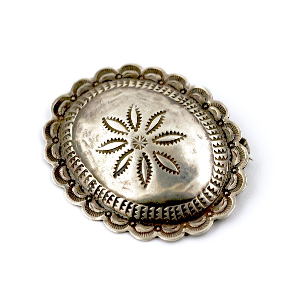 1940's Navajo Concho Brooch - Kingdom Jewelry