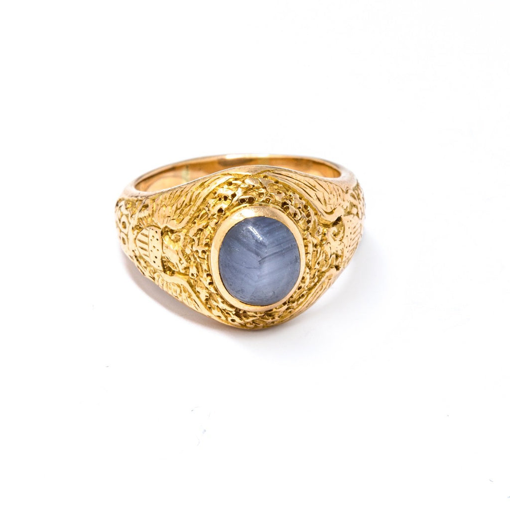 1940'S Star Sapphire Ring - Kingdom Jewelry