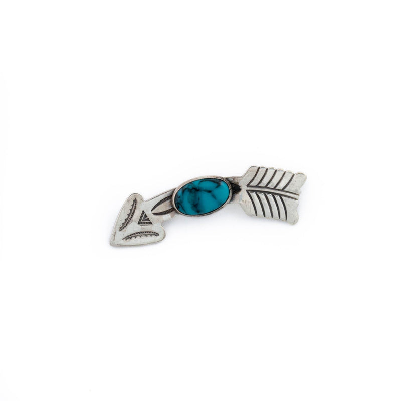1950's Blue Arrow Pin - Kingdom Jewelry