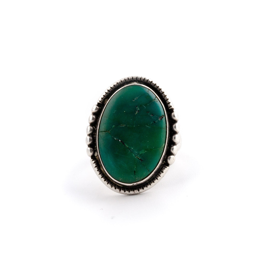 1950s Green Cerillios Ring - Kingdom Jewelry