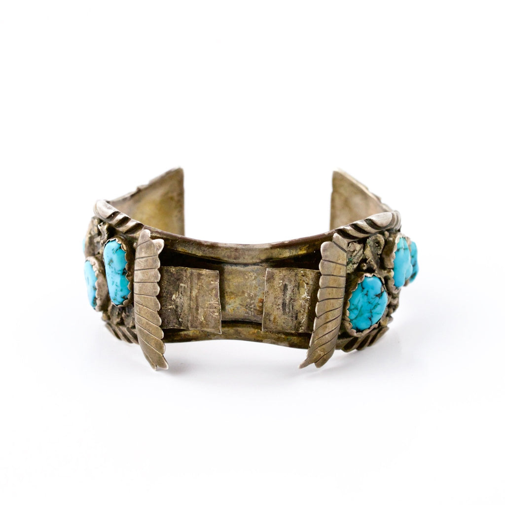 1960's Winged Navajo Watch Cuff - Kingdom Jewelry
