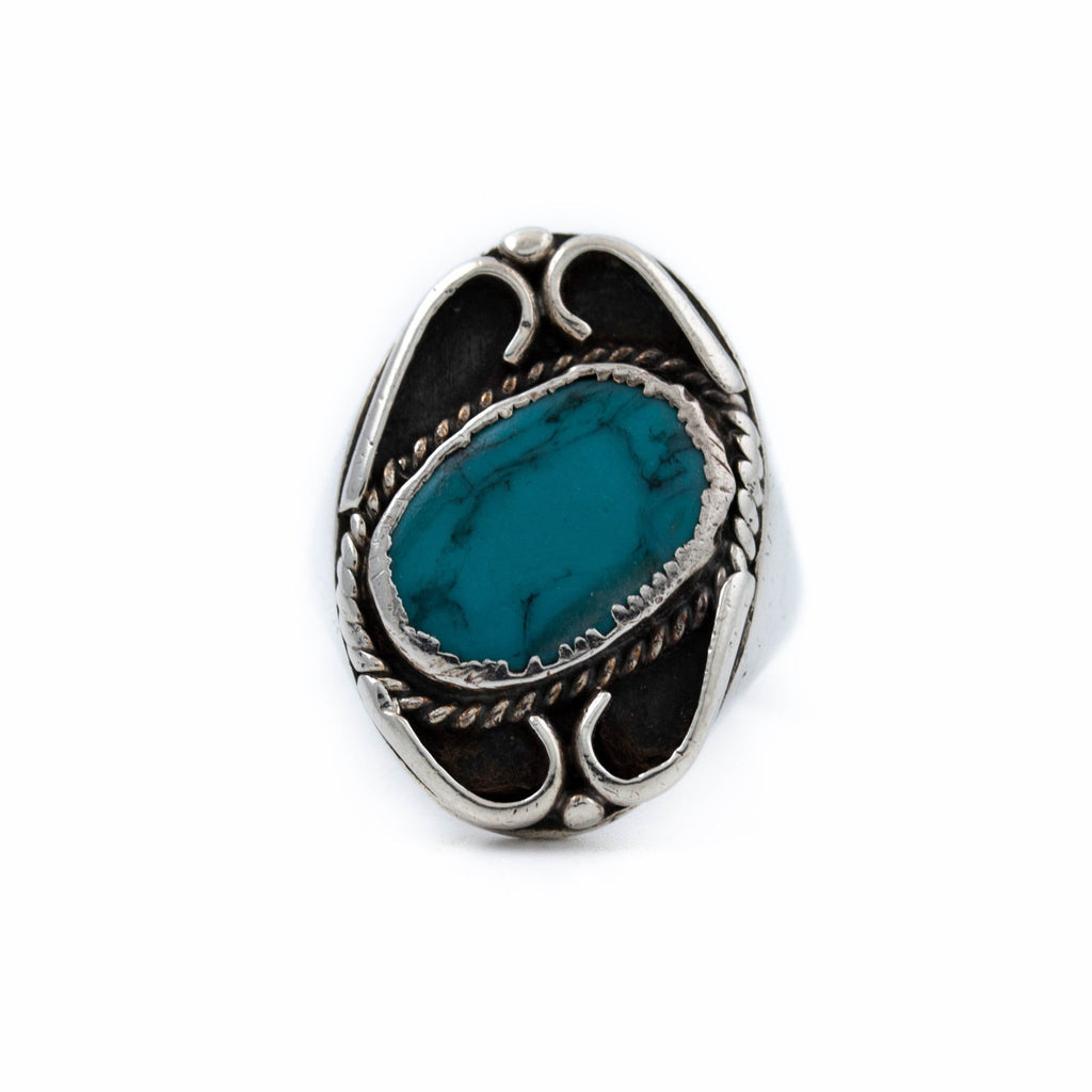 1970's Blue Turquoise Ring - Kingdom Jewelry