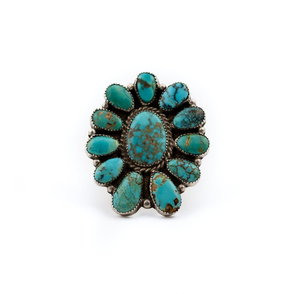1970s Cluster Turquoise Ring - Kingdom Jewelry