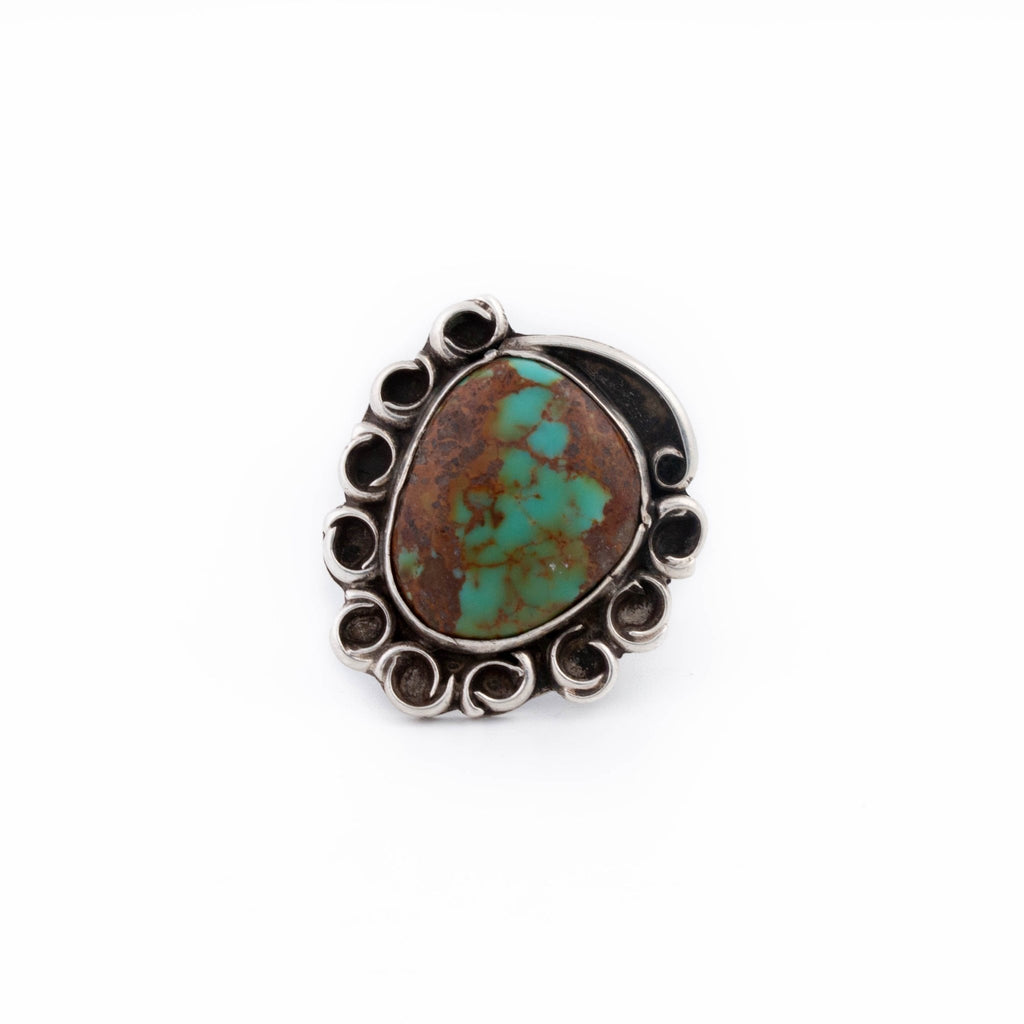 1970's Hachita Turquoise Ring - Kingdom Jewelry