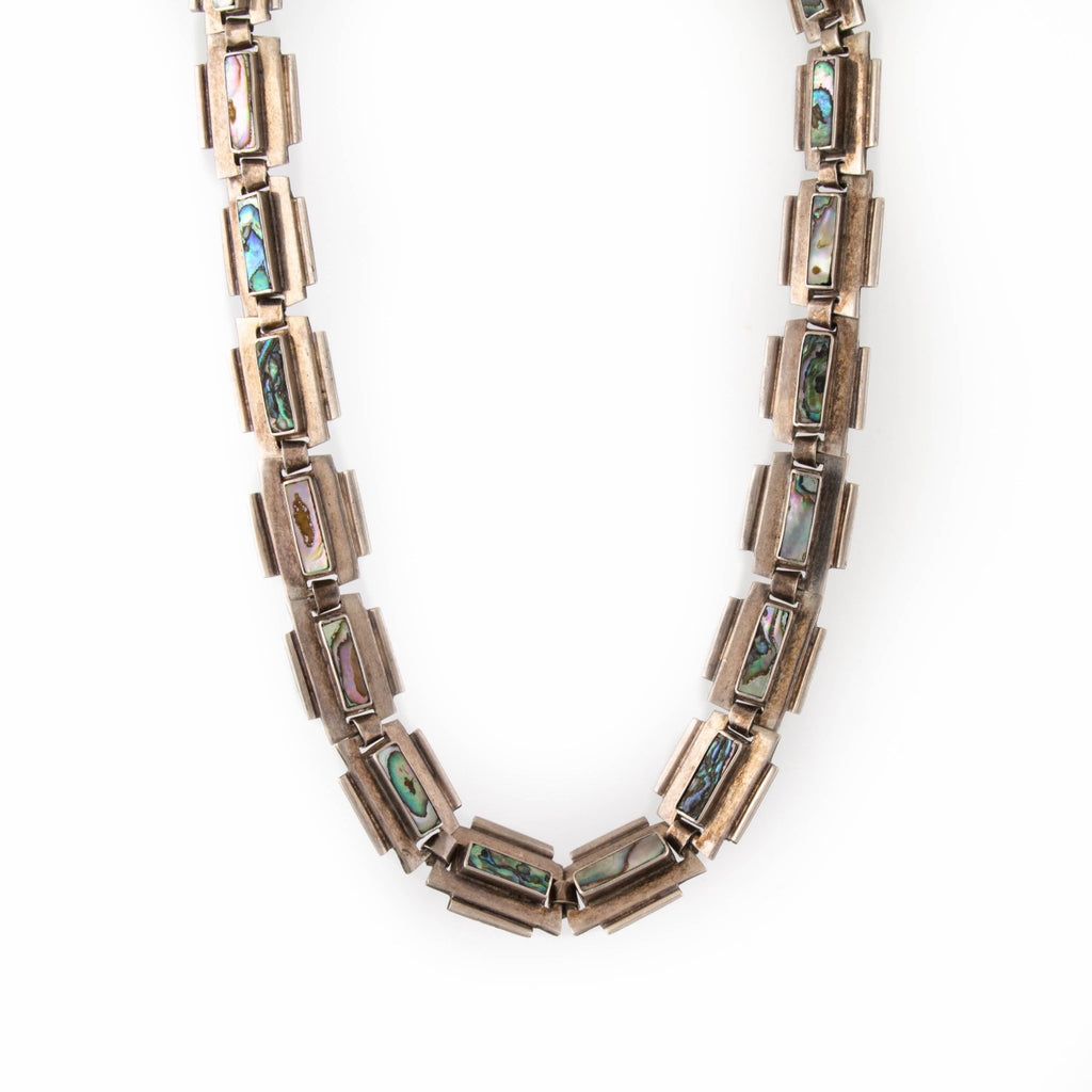 1970's Mexican Abalone Necklace - Kingdom Jewelry