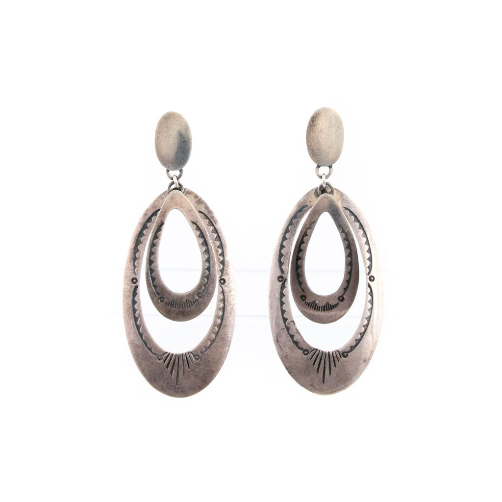 1970s Oval Hooped Earrings - Kingdom Jewelry