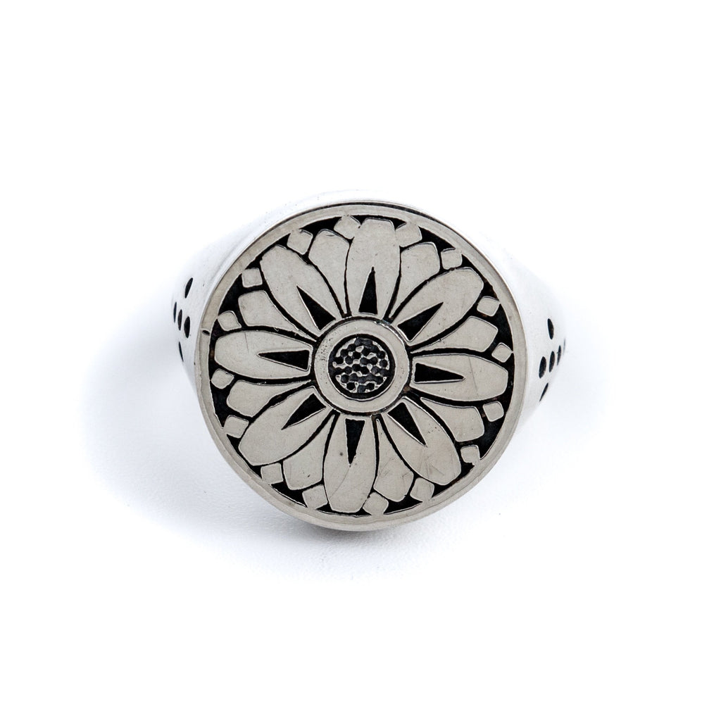"Japanese-Inspired ""Sunflower"" Signet by Kingdom"