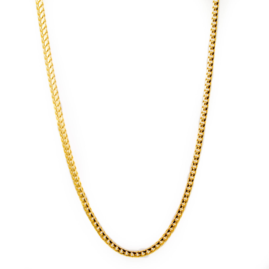 3mm Gold Franco Link Necklace - Kingdom Jewelry