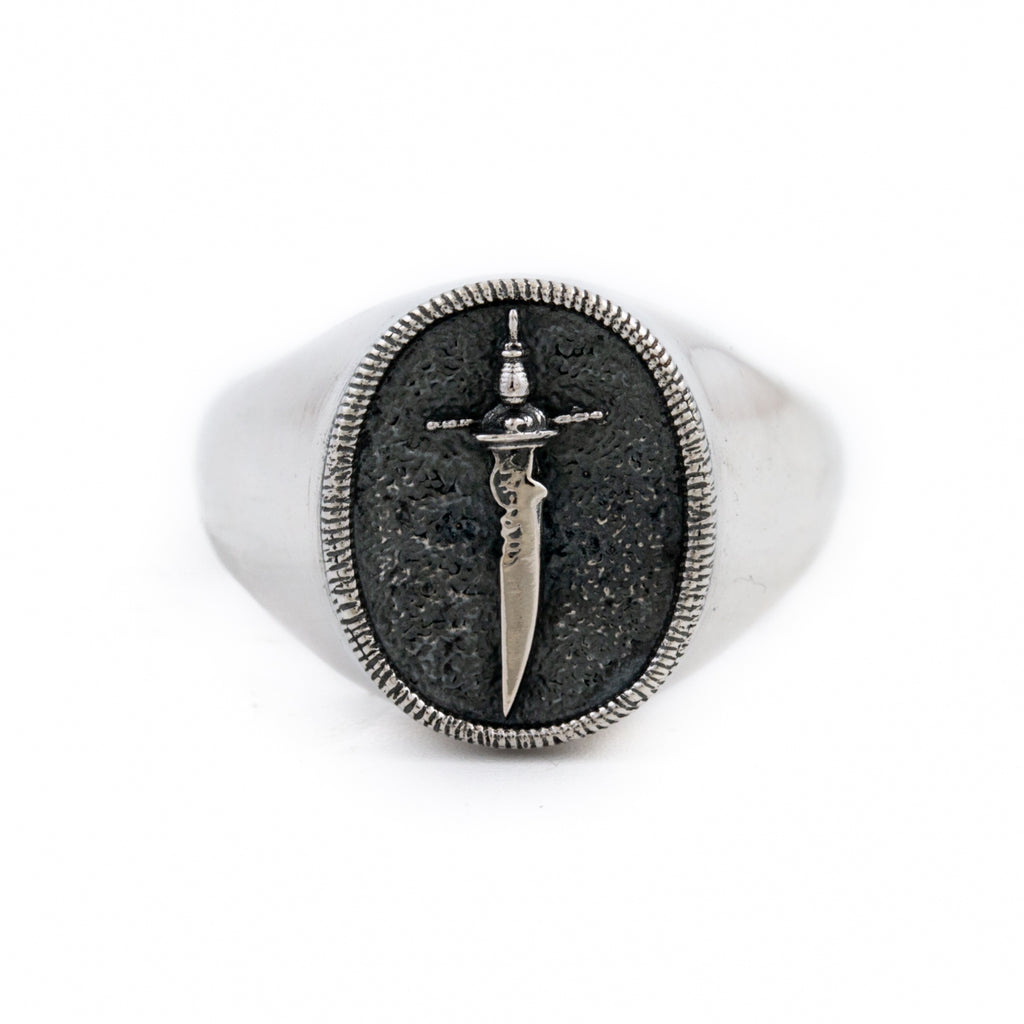 Silver Cutlass Ring