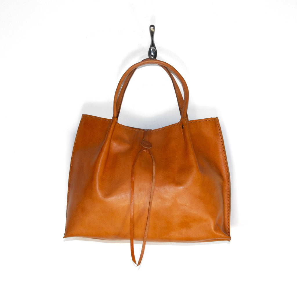 Pure Indonesian Butterscotch Leather Handbag
