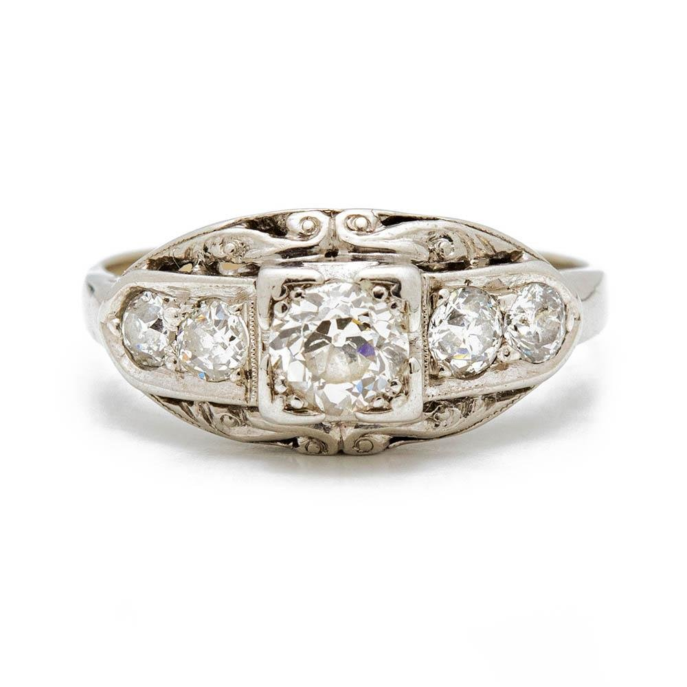 Antique Edwardian Diamond Ring - Kingdom Jewelry