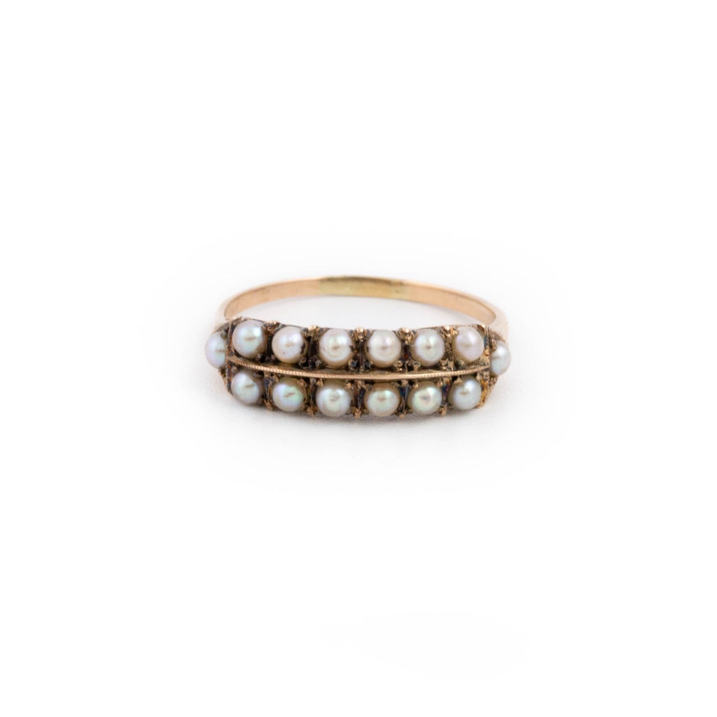 Antique Georgian Pearl Ring - Kingdom Jewelry