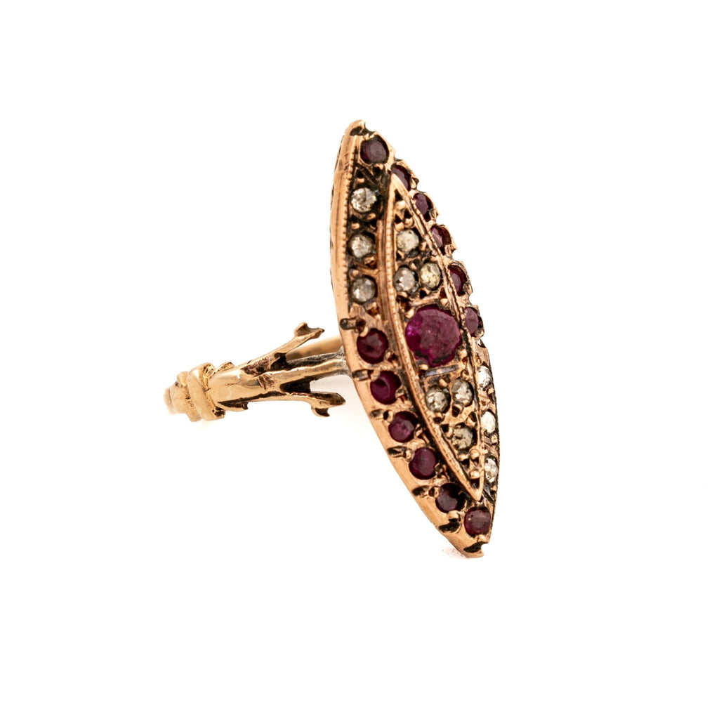 Antique Pinchbeck Ring - Kingdom Jewelry