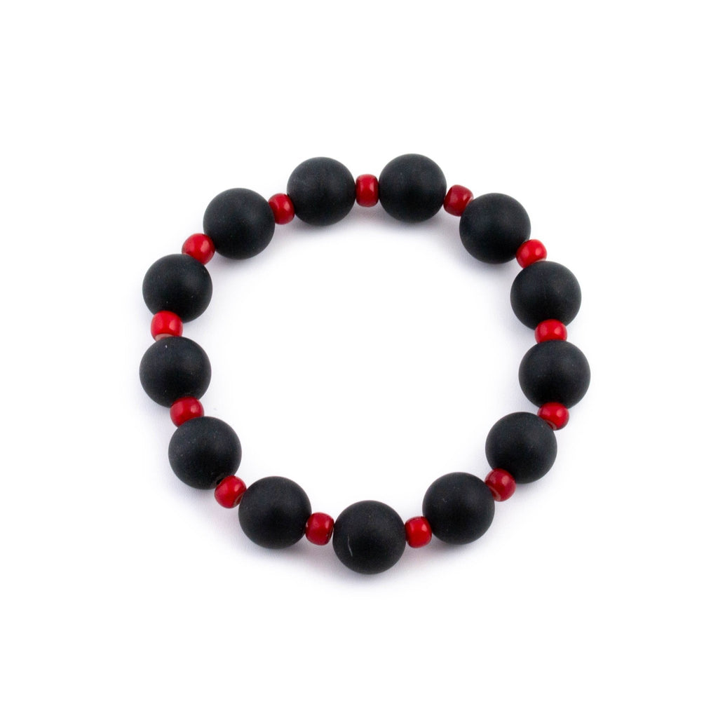 Balanced Onyx Beaded Bracelet - Kingdom Jewelry
