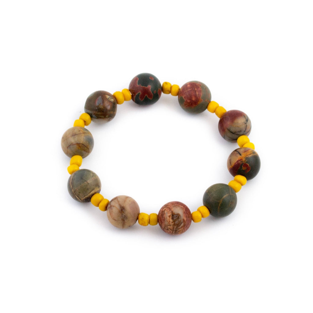 Beaded Mookaite Jasper Bracelet - Kingdom Jewelry