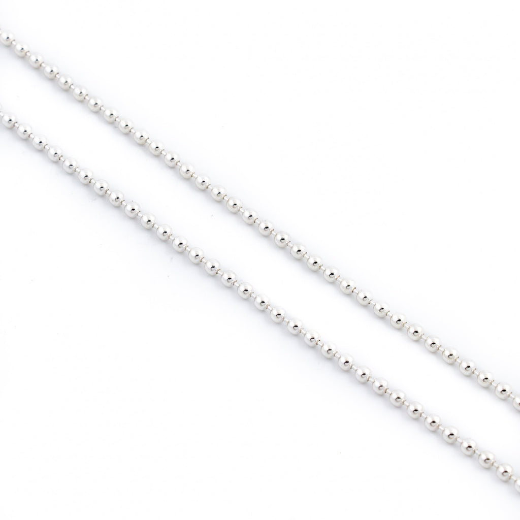 Beaded Sterling Silver Chain - Kingdom Jewelry
