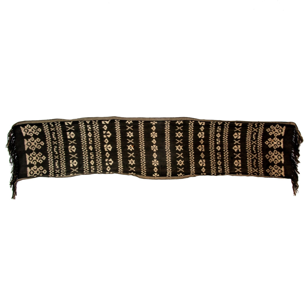 Black Sumbanese Ikat Scarf - Kingdom Jewelry