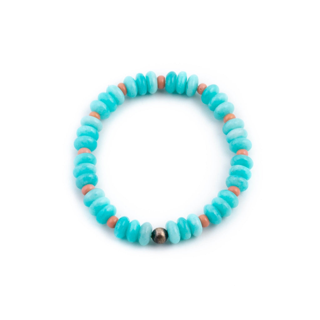Blue Amazonite Beaded Bracelet - Kingdom Jewelry