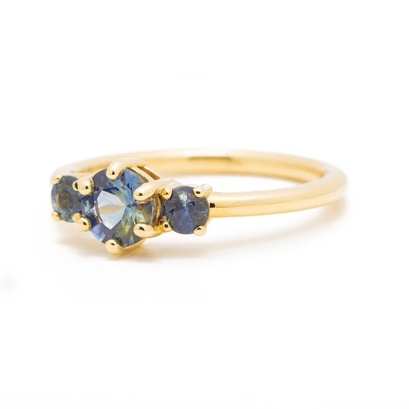 Blue Sri Lankan Engagement Ring - Kingdom Jewelry