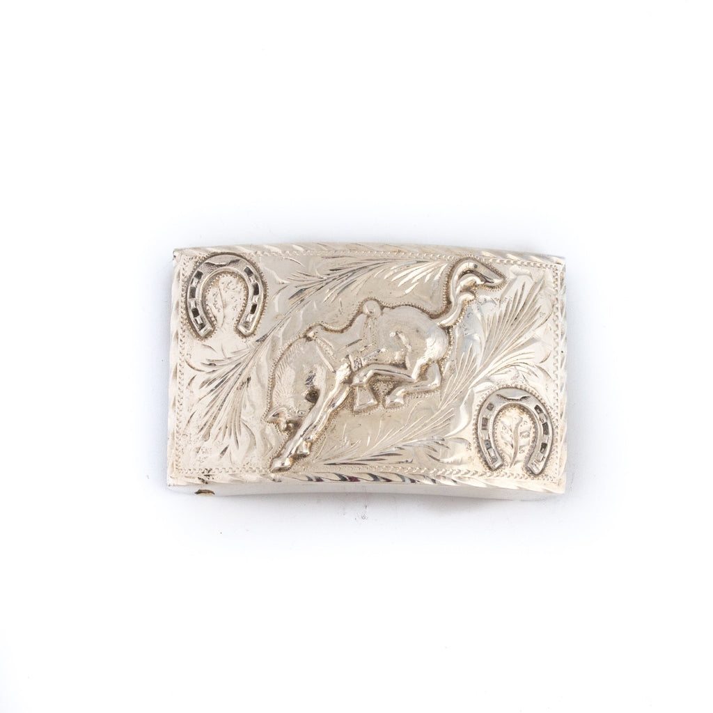 Bucking Horseshoe Rodeo Americana Belt Buckle - Kingdom Jewelry