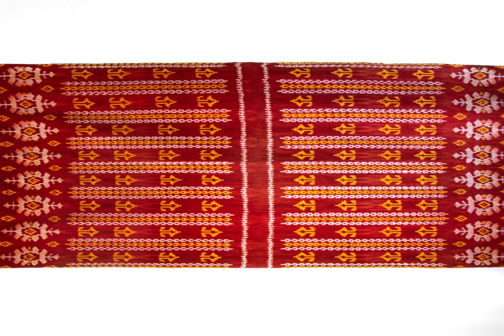 Burgundy Mango Ikat Scarf - Kingdom Jewelry