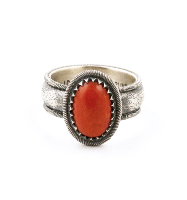 Tufa Cast Coral Ring by J. Morgan