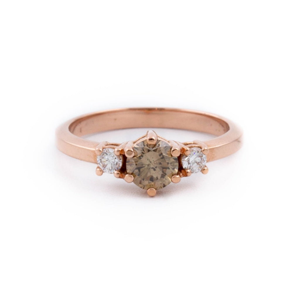 Cognac Rose-Gold Engagement Ring - Kingdom Jewelry