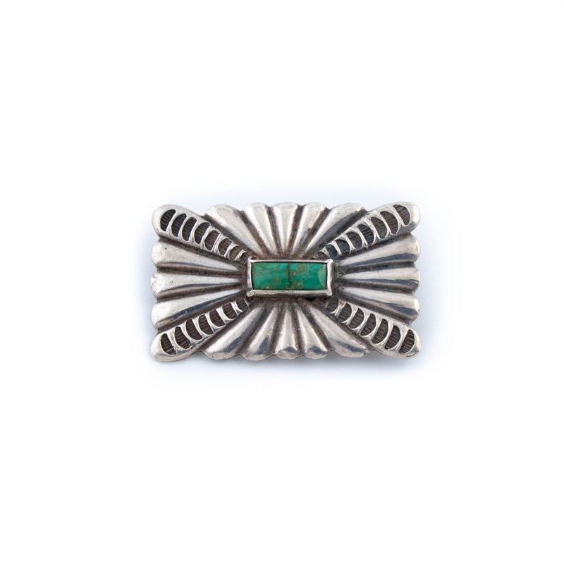 Detailed 1940's Navajo Pin - Kingdom Jewelry