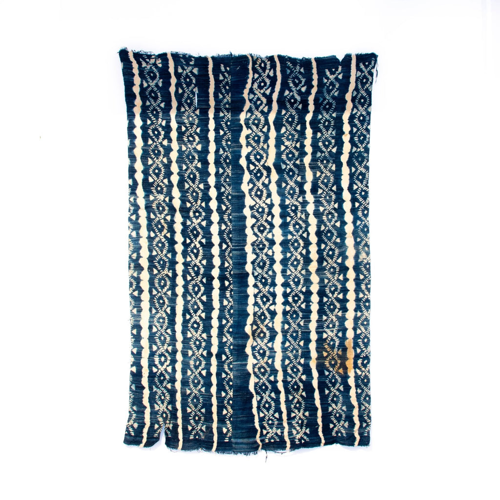 Detailed African Indigo Cloth - Kingdom Jewelry