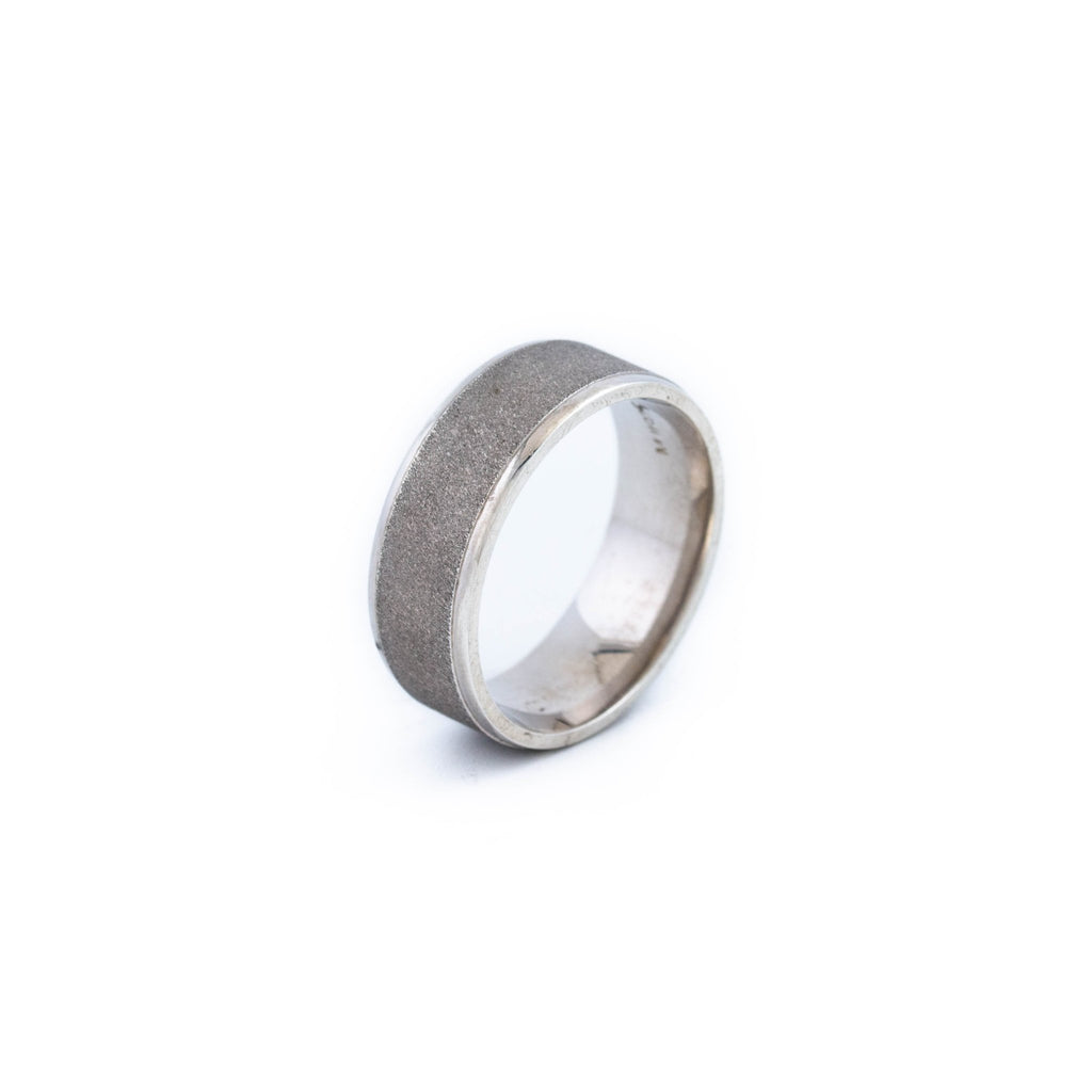 Edged Sterling Silver Band - Kingdom Jewelry