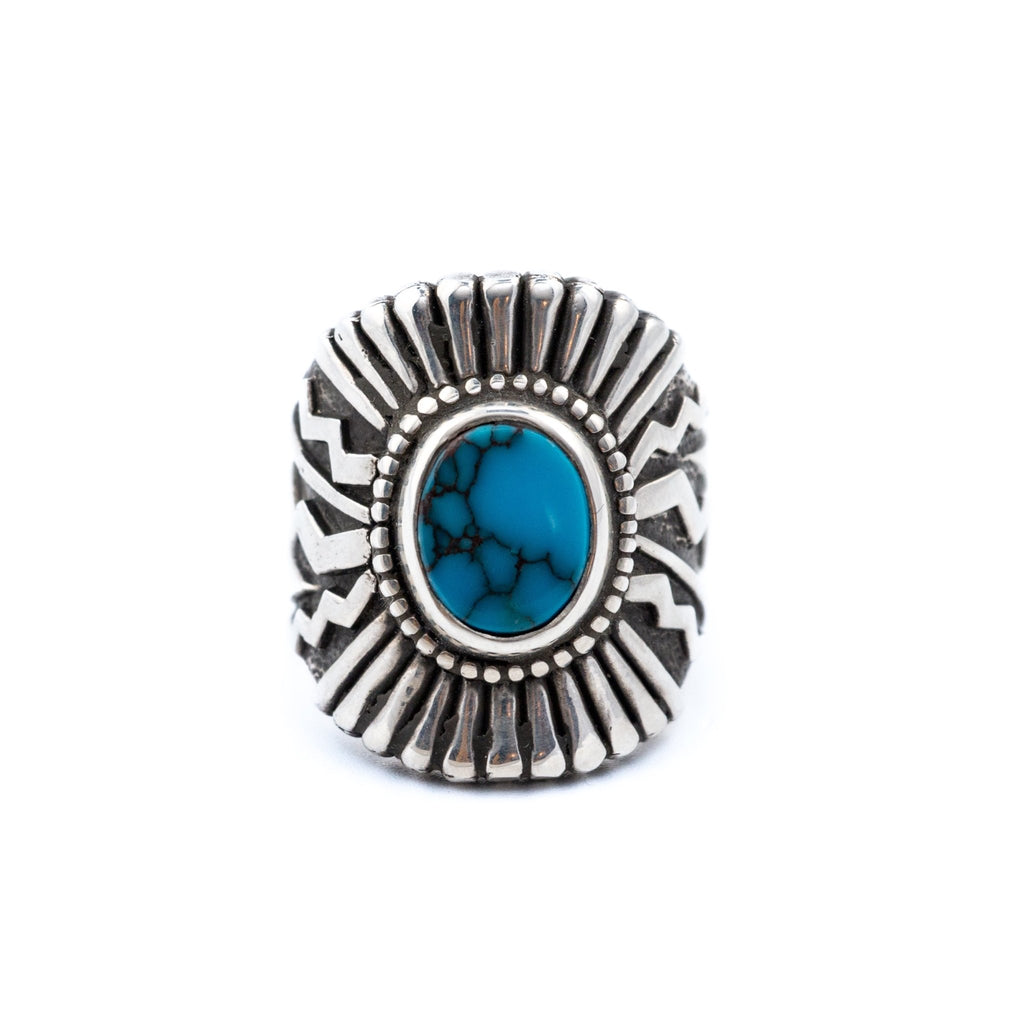 Egyptian Turquoise Sonoran Sunrise Ring - Kingdom Jewelry
