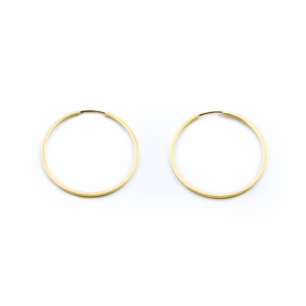Everyday 10kt Gold Hoops - Kingdom Jewelry