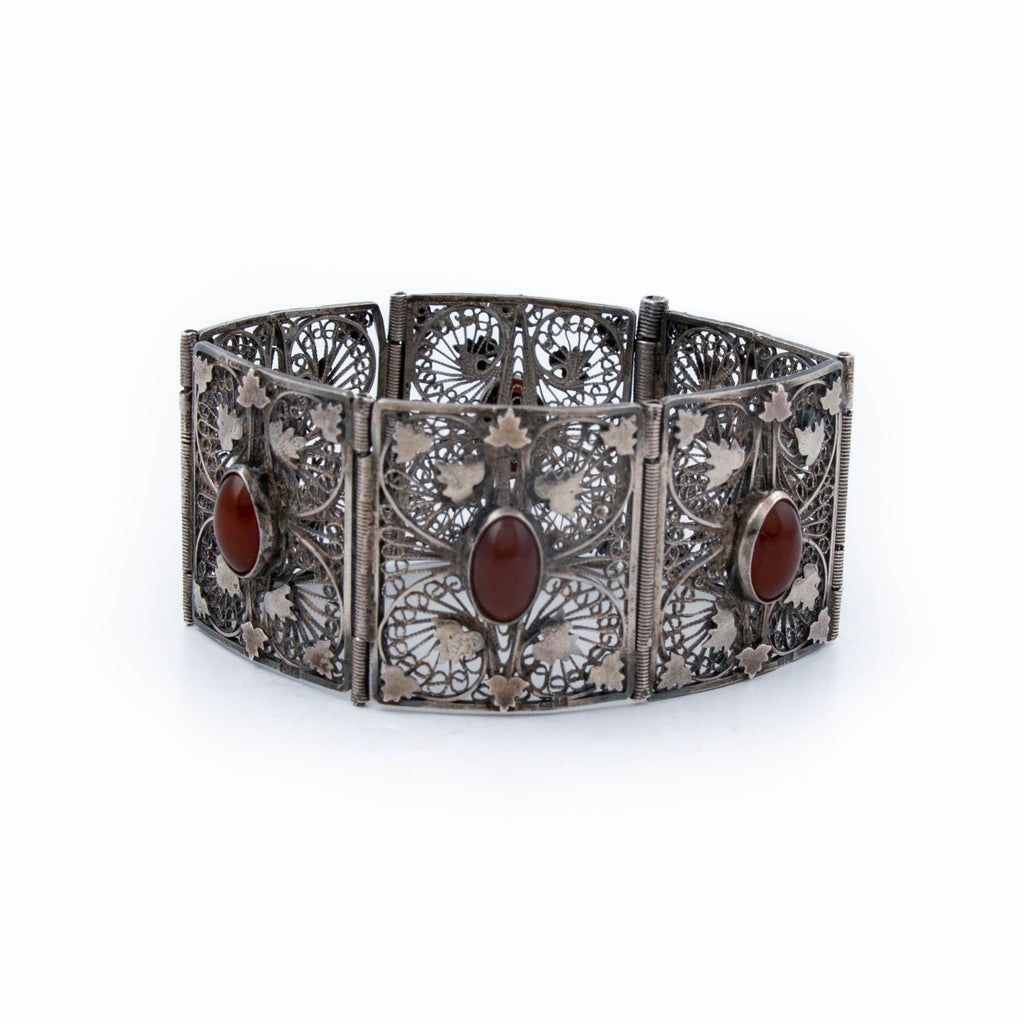 Exceptional Filagree Panelled Cuff - Kingdom Jewelry