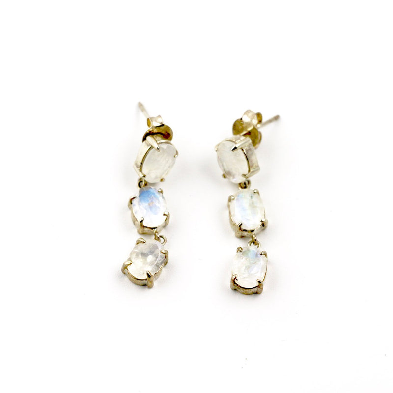 Faceted Moonstone Earrings - Kingdom Jewelry