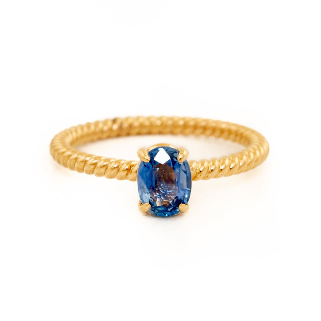 Gentle Blue Sapphire Ring - Kingdom Jewelry