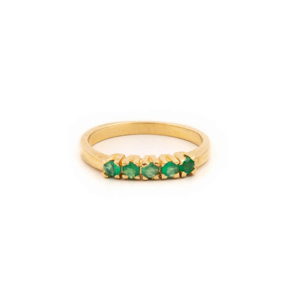Gold Emerald Row Ring - Kingdom Jewelry