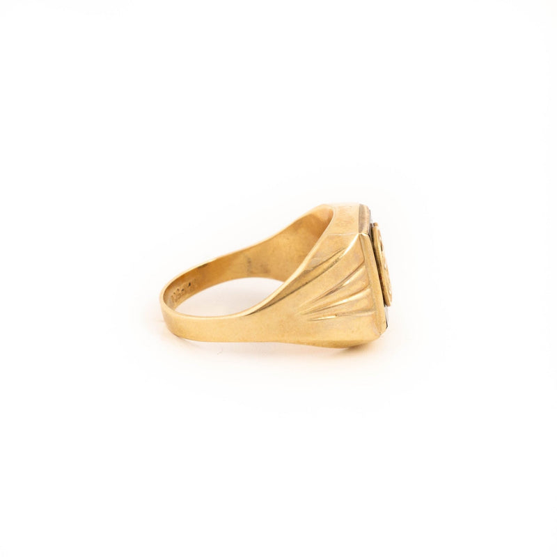 Gold G Signet Ring - Kingdom Jewelry