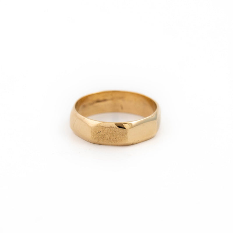 Gold Octagon Wedding Band - Kingdom Jewelry