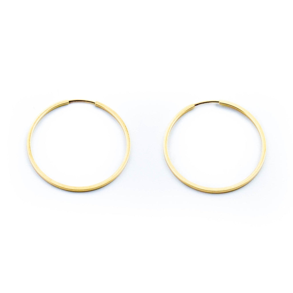Gold Pipe Hoop Earrings - Kingdom Jewelry