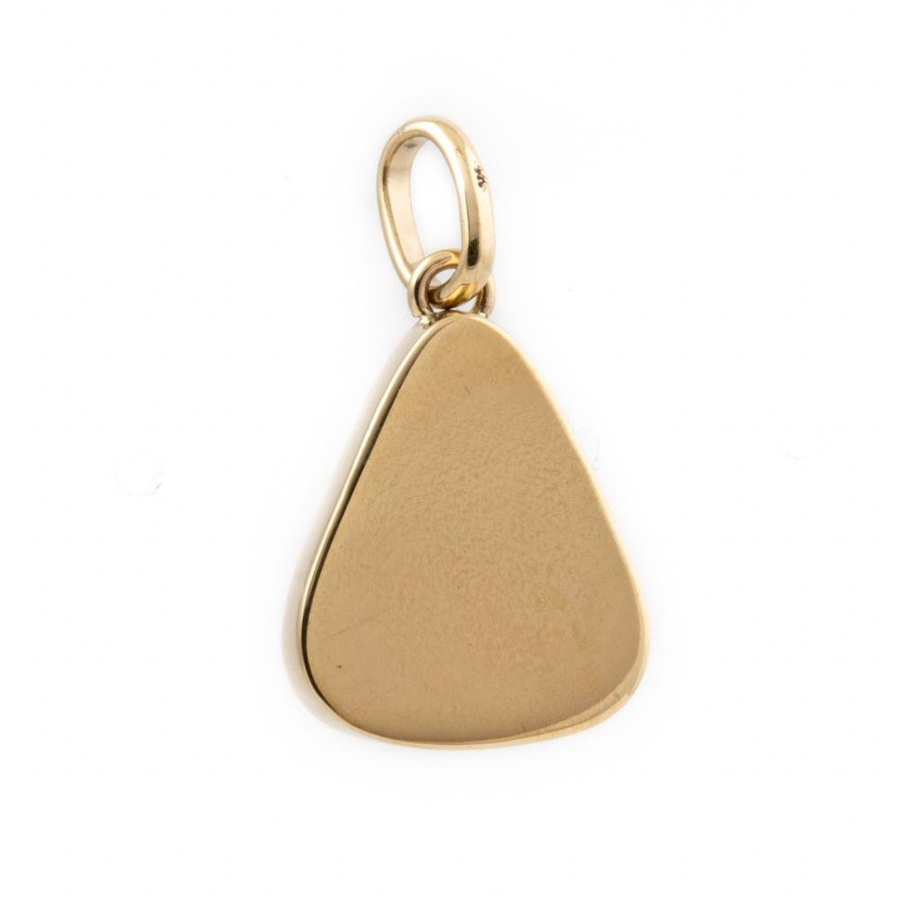 Gold Triangular Kingman Pendant - Kingdom Jewelry