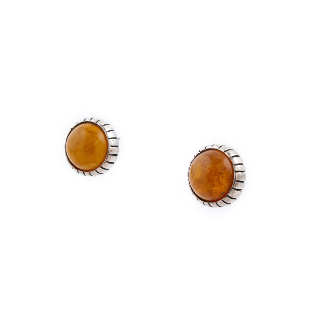Golden Baltic Amber Earrings - Kingdom Jewelry