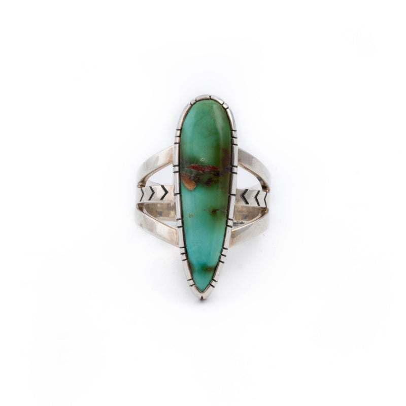 Green Teardrop Royston Ring - Kingdom Jewelry