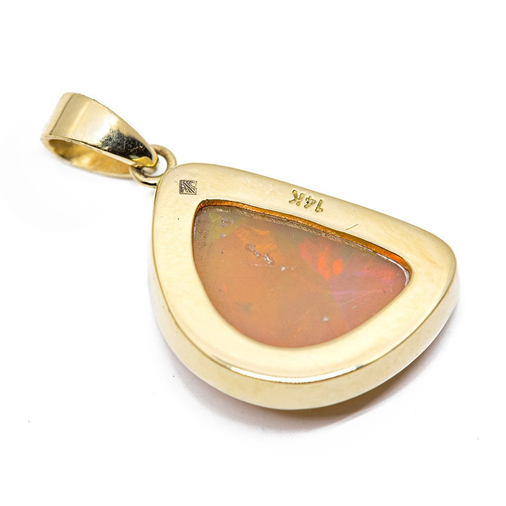 Half Moon Opal Pendant - Kingdom Jewelry