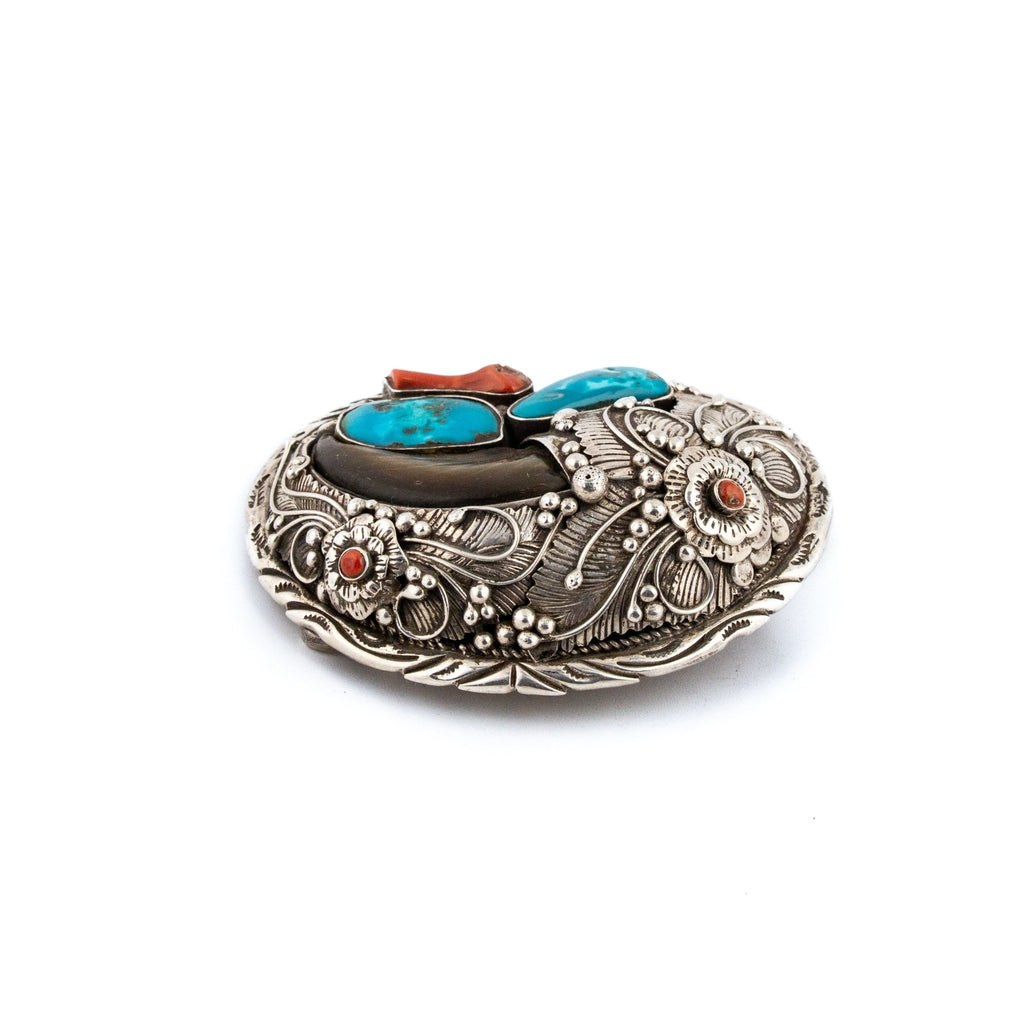 Heavy Navajo Silver Buckle - Kingdom Jewelry