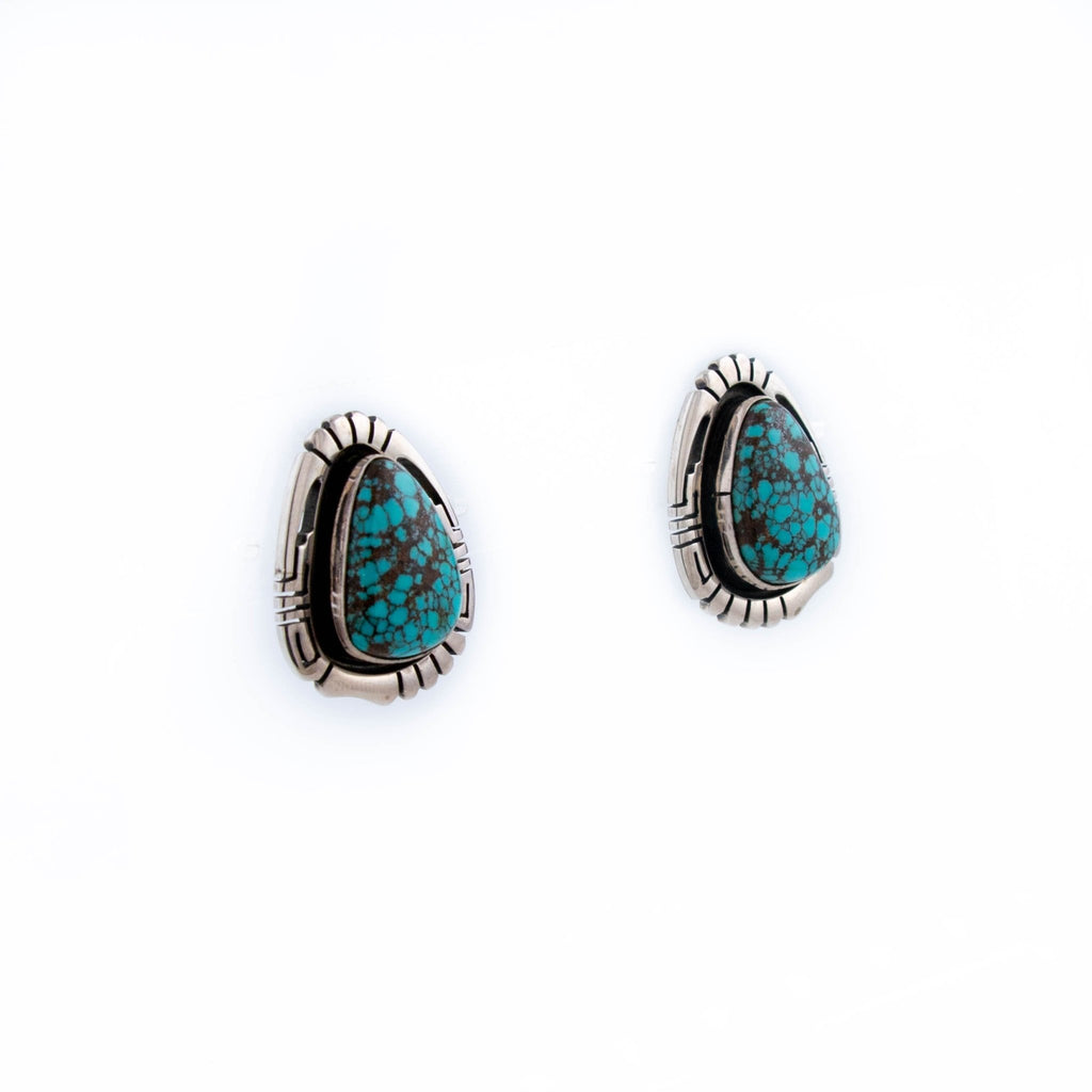Incredible Spiderweb Turquoise Earrings - Kingdom Jewelry