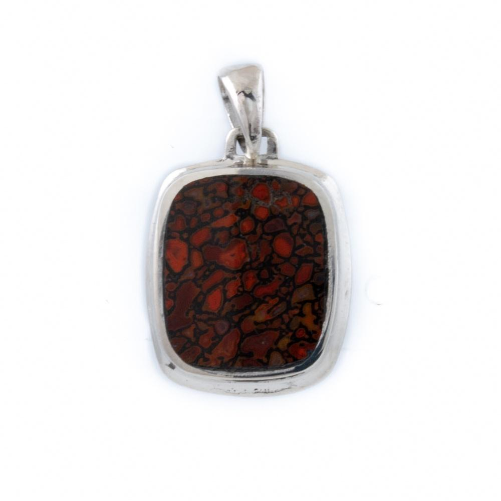 Inlay Dino Bone Pendant - Kingdom Jewelry